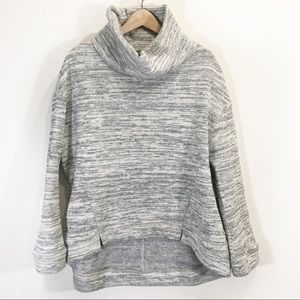 Anthropologie Cowl Neck Sweater Grey Size Large